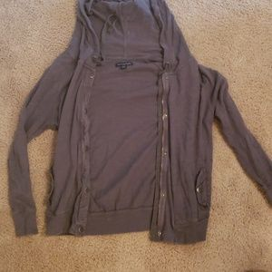 3/4 sleeve gray zip up *5 for $25*